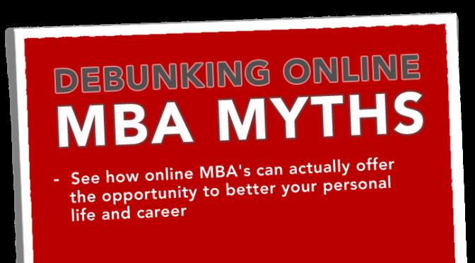 Debunking Online MBA Myths - Banner