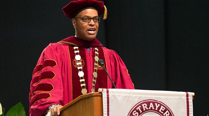 Brian Jones at Strayer Graduation