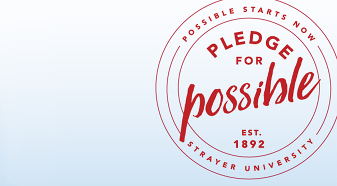 Strayer Pledge for Possible