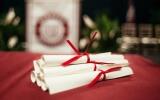 Strayer graduation scrolls